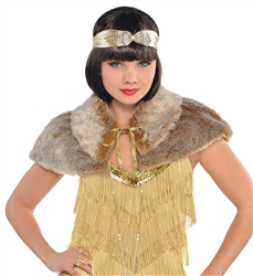 Roaring 20's Furry Capelet | Party Supplies