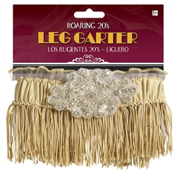 Roaring 20's Fringe Garter - Champagne | Party Supplies