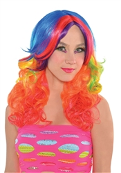 Manic Rainbow Wig | Party Supplies