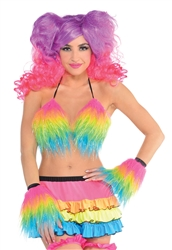 Electric Party Furry Bra Top | Party Supplies