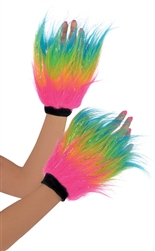 Electric Party Fur Hand Warmers - Adult | Party Supplies