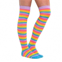 Electric Party Over The Knee Socks | Party Supplies