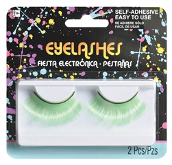 Electric Party Neon Green Jumbo Eyelashes | Party Supplies