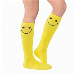 Electric Party Smiley Knee Socks | Party Supplies