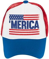 Patriotic Spirit Hat - Men's | Party Supplies