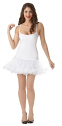 White Petticoat Dress - Adult S/M | Party Supplies