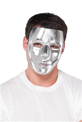 Silver Basic Mask | Party Supplies