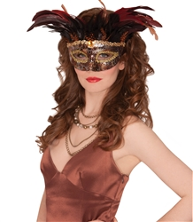Animal Instinct Feather Mask | Party Supplies