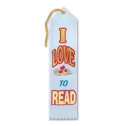 I Love To Read Award Ribbon