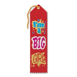 I'm a Big Girl Award Ribbon