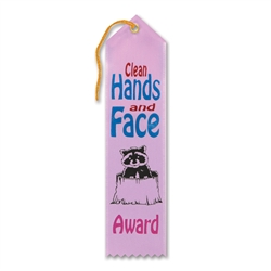 Clean Hands and Face Award Ribbon
