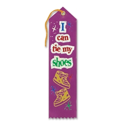 I Can Tie My Shoes Award Ribbon