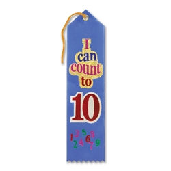I Can Count to Ten Award Ribbon