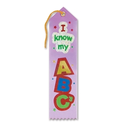 I Know My ABC's Award Ribbon