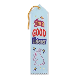 I'm a Good Listener Award Ribbon
