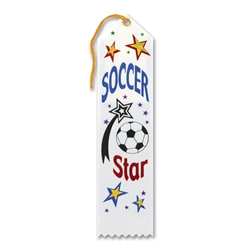 Soccer Star Award Ribbon