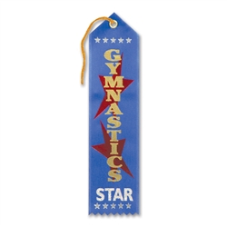 Gymnastics Star Award Ribbon