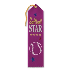 Softball Star Award Ribbon