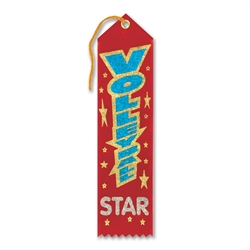Volleyball Star Award Ribbon