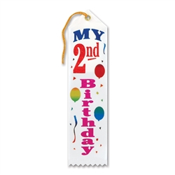 My 2nd Birthday Award Ribbon