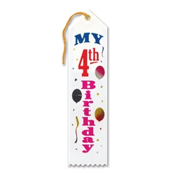 My 4th Birthday Award Ribbon