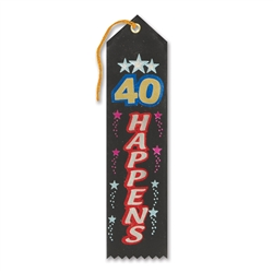 40 Happens Award Ribbon
