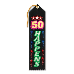 50 Happens Award Ribbon