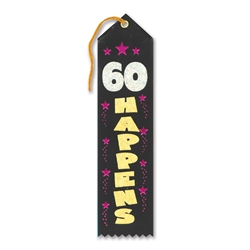 60 Happens Award Ribbon