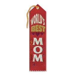 World's Best Mom Award Ribbon