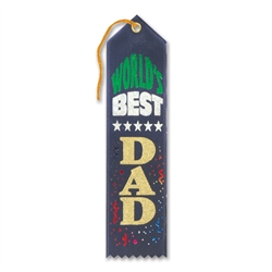 World's Best Dad Award Ribbon