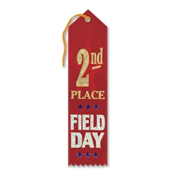 2nd Place Field Day Award Ribbon