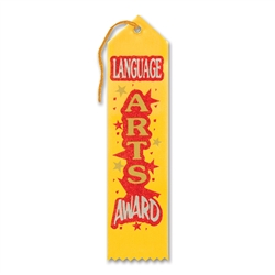 Language Arts Award Ribbon