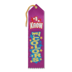 I Know My Colors Award Ribbon