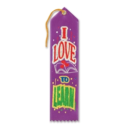 I Love To Learn Award Ribbon