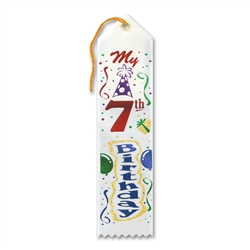 My 7th Birthday Award Ribbon