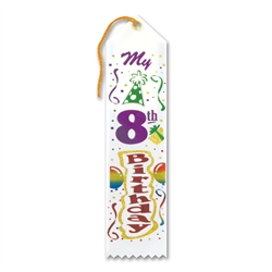 My 8th Birthday Award Ribbon