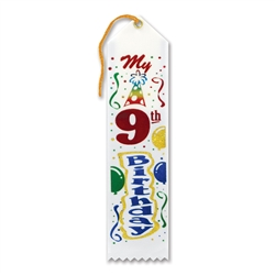 My 9th Birthday Award Ribbon