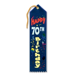 Happy 70th Birthday Award Ribbon