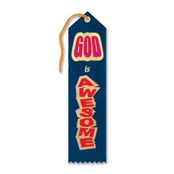 God Is Awesome Inspirational Ribbon