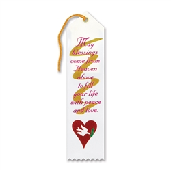 May Blessings Come From Heaven Inspirational Ribbon