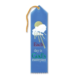 Each Day Is God's Masterpiece Inspirational Ribbon