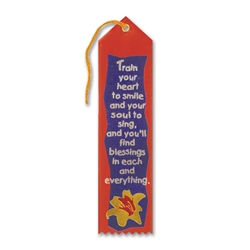 Train Your Heart To Smile Inspirational Ribbon