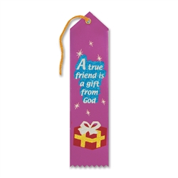 A True Friend Is A Gift From God Inspirational Ribbon