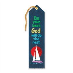 Do Your Best, God Will Do the Rest Inspirational Ribbon