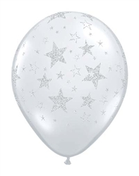 Glittered Stars Latex Balloons for Sale