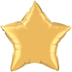 "20"" Gold Mylar Star Balloons 