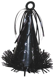 Black Fringed Foil Wrapped Balloon Weight