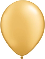Metallic Gold Latex Balloons
