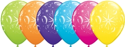 "11"" New Year Party Assortment Latex Balloons"