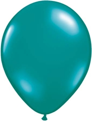 "11"" Jewel Teal Latex Balloons - 25 Count"